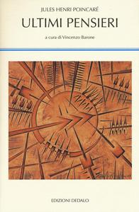 Libro Ultimi pensieri Jules-Henri Poincaré