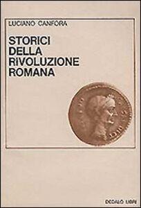 Libro Storici della rivoluzione romana Luciano Canfora