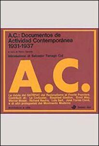 Libro AC: documentos de Actividad Contemporánea (1931-1937)