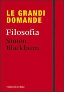 Foto Cover di Filosofia, Libro di Simon Blackburn, edito da Dedalo