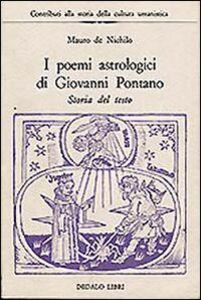 Libro I poemi astrologici di Giovanni Pontano Mauro De Nichilo