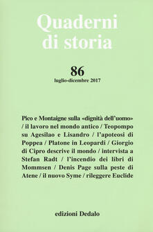 Premioquesti.it Quaderni di storia (2017). Vol. 86 Image