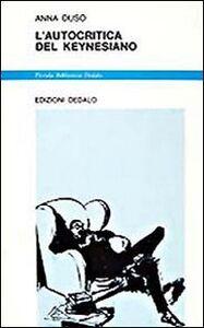 Libro L' autocritica del keynesiano Anna Duso