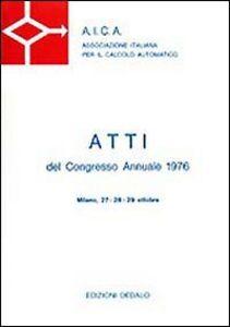 Libro Aica. Atti del Congresso annuale (1976)