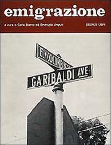 Foto Cover di Emigrazione, Libro di  edito da Dedalo