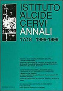 Foto Cover di Annali Istituto «Alcide Cervi» vol. 17-18 (1995-1996), Libro di  edito da Dedalo