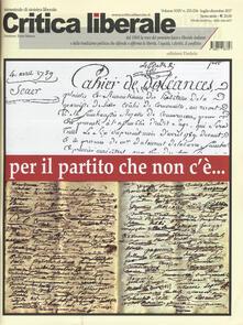 Listadelpopolo.it Critica liberale (2017). Vol. 233-234 Image