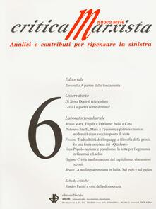Ipabsantonioabatetrino.it Critica marxista (2016). Vol. 6 Image