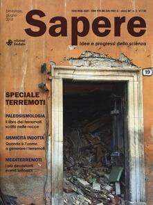 Lpgcsostenible.es Sapere. Idee e progressi della scienza (2018). Vol. 3: Speciale terremoti. Image