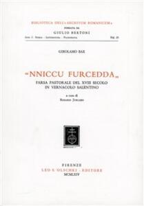 Nniccu Furcedda: farsa pastorale del XVIII secolo in vernacolo salentino