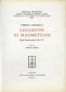 Legazioni ai maomettani (Quod reminiscentur, libro IV) - Tommaso Campanella - copertina