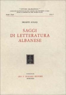 Saggi di letteratura albanese - Ernesto Koliqi - copertina