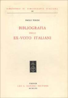 Bibliografia degli ex-voto italiani - Paolo Toschi - copertina