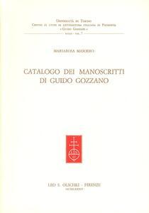 Catalogo di manoscritti di Guido Gozzano