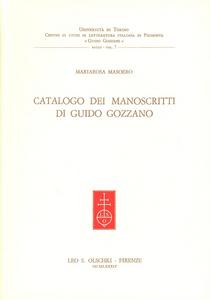 Libro Catalogo di manoscritti di Guido Gozzano Mariarosa Masoero