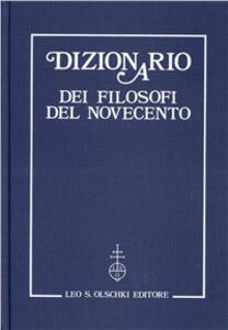 Dizionario dei filosofi del Novecento