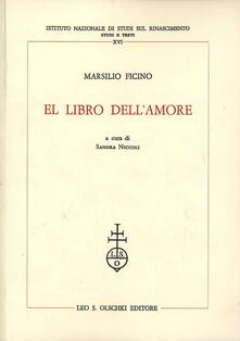 El libro dell'amore - Marsilio Ficino - copertina