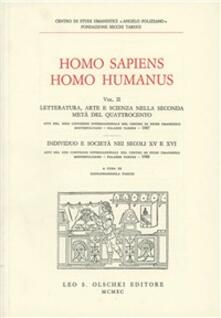 Homo sapiens, homo humanus - copertina