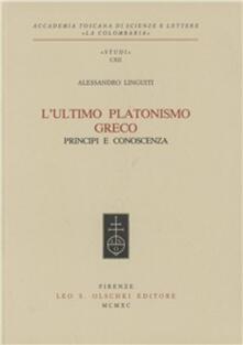 Mercatinidinataletorino.it L' ultimo platonismo greco. Principi e conoscenza Image