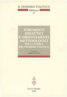 Strumenti didattici e orientamenti metodologici per la storia del pensiero politico - copertina