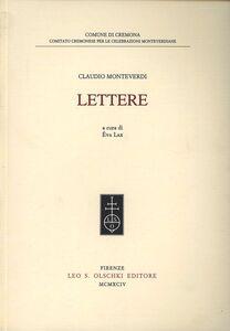 Libro Lettere Claudio Monteverdi