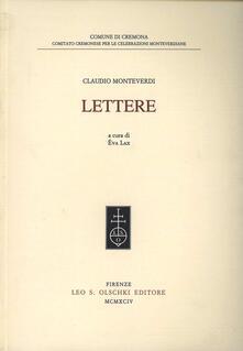 Lettere - Claudio Monteverdi - copertina