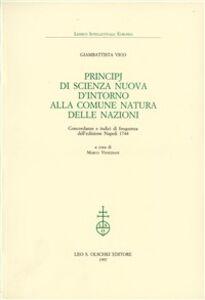 Libro Principj di scienza nuova d'intorno alla comune natura delle nazioni. Concordanze e indici di frequenza dell'edizione Napoli 1744 Giambattista Vico