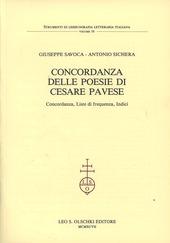 Concordanza delle poesie di Cesare Pavese. Concordanza, liste di frequenza, indici