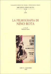 Libro La filmografia di Nino Rota