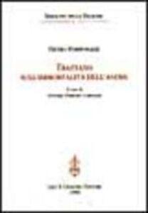 Libro Trattato sull'immortalità dell'anima Pietro Pomponazzi