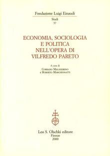 Economia, sociologia e politica nell'opera di Vilfredo Pareto - copertina