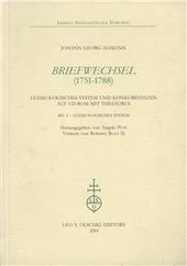 Briefwechsel (1751-1788). Lexikologische system und Konkordanzen