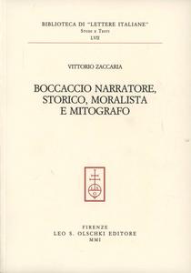 Libro Boccaccio narratore, storico, moralista e mitografo Vittorio Zaccaria