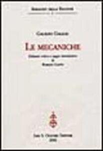 Libro Le mecaniche Galileo Galilei