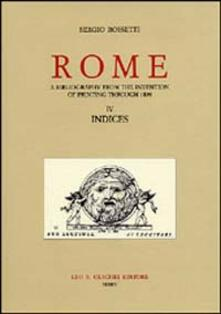Antondemarirreguera.es Rome. A bibliography from the invention of printing through 1899. Vol. 4: Indices. Image