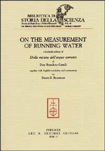 Libro On the measurement of running water-Della misura delle acque correnti
