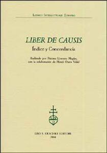 Libro Liber de causis. Índice y concordancia
