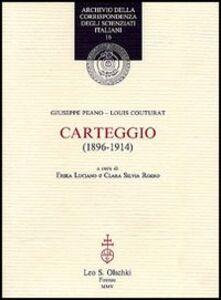 Libro Carteggio (1896-1914) Giuseppe Peano , Louis Couturat