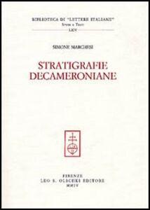 Foto Cover di Stratigrafie decameroniane, Libro di Simone Marchesi, edito da Olschki