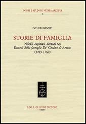 Storie di famiglia. Nobili, capitani, dottori nei «Ricordi della famiglia De' Giudici di Arezzo» (1943-1769)