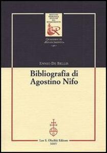 Bibliografia di Agostino Nifo