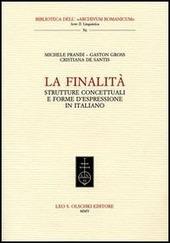 La finalità. Strutture concettuali e forme d'espressione in italiano