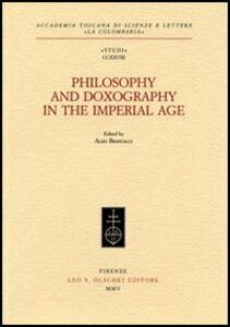 Libro Philosophy and doxography in the Imperial Age