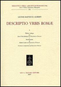 Libro Descriptio urbis Romae Leon Battista Alberti