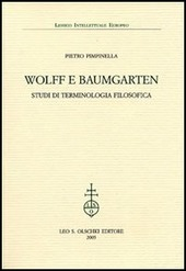 Wolff e Baumgarten. Studi di terminologia filosofica