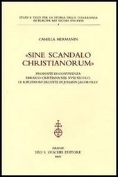 «Sine scandalo christianorum». Proposte di convivenza ebraico-cristiana nel XVIII secolo: le riflessioni erudite di Johann Jacob Frey
