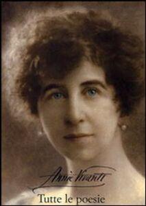 Foto Cover di Tutte le poesie, Libro di Annie Vivanti, edito da Olschki