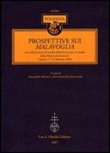 Foto Cover di Prospettive sui Malavoglia. Atti dell'Incontro di studio della Società per lo studio della Modernità letteraria (Catania, 17-18 febbraio 2006), Libro di  edito da Olschki