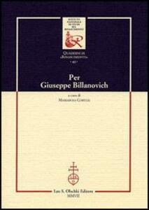 Per Giuseppe Billanovich