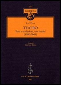 Libro Teatro José Pliya